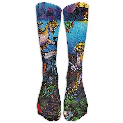 Baby Raptor Kostüm - Gped Kniestrümpfe,Socken Long Dinosaur Triceratops Raptors Fantasy Socks Women's Winter Vintage Cotton Wool Knit Long Crew Socks Length 50CM