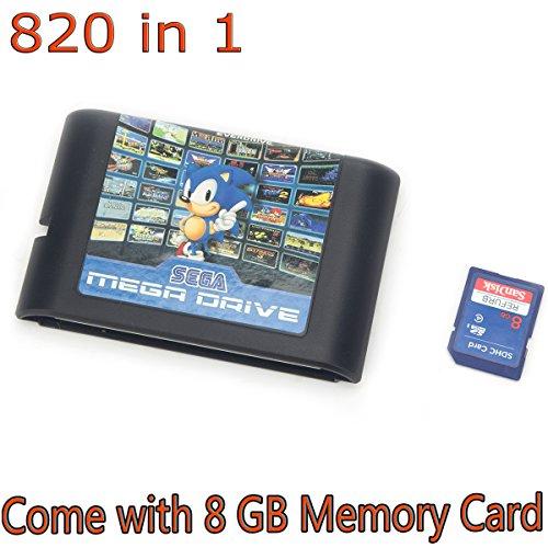 Price comparison product image FLORATA 820 in 1 Game Cartridge 16 Bit Game Card For Sega Mega Drive Genesis Console