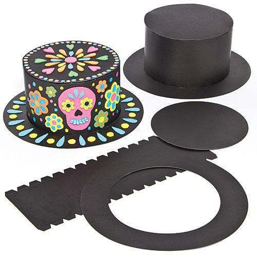 Kit cappello a cilindro fai da te per bambini da decorare e indossare (confezione da 3)
