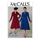 McCall's Patterns McCall 's Muster 7478E5, Misses/Miss Petite Mäntel, Größen 14–22, Multi/Farbe