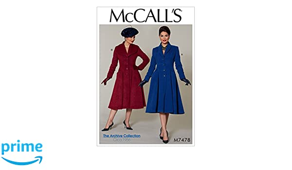 Misses//Miss Petite M/äntel McCall s Patterns McCall s Muster 7478/A5 Multi//Farbe 14 Gr/ö/ßen 6