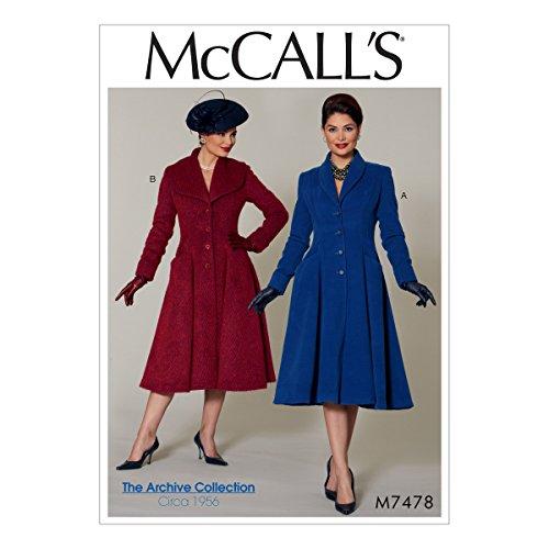 Petite Tweed (McCall 's Patterns McCall 's Muster 7478E5, Misses/Miss Petite Mäntel, Größen 14-22, Multi/Farbe)
