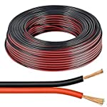 10m Red / Black 2 x 0.50mm Speaker Cable by electrosmart® - Ideal for Car Audio & Home HiFi