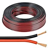 electrosmart 10m Red/Black 2 x 0.50mm Speaker Cable Ideal for Car Audio & Home HiFi