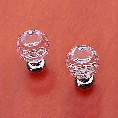 Diamante Cristallo Armadietto Dresser cassetto Armadio porta Manopole Maniglia