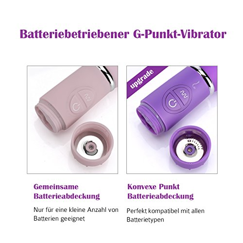 G-Punkt Vibratoren, [Upgrade Version] NightLand Silikon Vibrator mit 10 Vibrationsmodi, 360° rotierenden Eichel Klitoris Stimulation Massagegerät (100Prozent Wasserdicht, Lila) - 3
