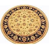 Runder Orient Teppich Ziegler 213 cm Ø Beige - feine Qualität - moderner Teppich oriental round carpet best quality