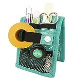 Mobiclinic | MINIKEEN'S | Organizador de enfermería | Para bolsillo de bata o pijama | Tamaño más estrecho | Ideal para profesionales de la salud | Estampado verde personalizado | Amo la enfermería