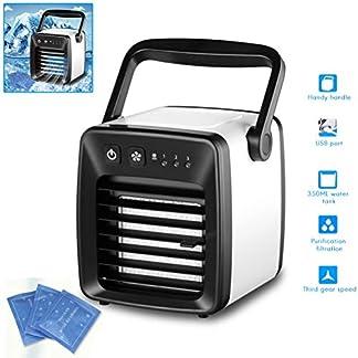 Comtervi Dispositivo de Aire Acondicionado portátil, 350 ml de depósito de Agua, Mini Dispositivo de Aire Acondicionado sin Tubo de Escape para Oficina, casa, Camping, etc.