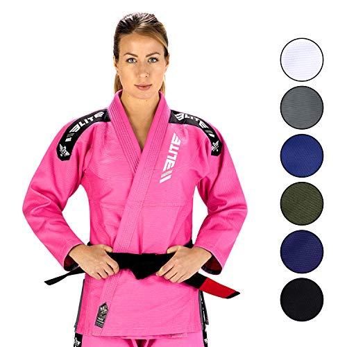 Elite Sport IBJJF-Ultra Light BJJ Brazilian Jiu Jitsu Gi W/Einlaufvorbehandelt & Gratis Gürtel (Kinder Jiu-jitsu Gi-mädchen)