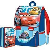 Kit Scuola School Pack Zaino Estensibile + Astuccio 3 Zip Disney CARS Saetta Mc Queen Edizione 2015-2016