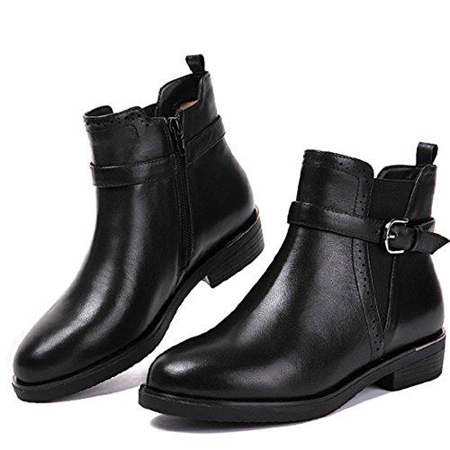 Reißverschluss in der seite Short boots [herbst und winter] Business Freizeit Martin stiefel-A Fußlänge=22.8CM(9Inch) (Herren Kleiden Stiefel Zip)