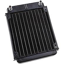 Warmetauscher Kuehler - TOOGOO(R)Schwarzes Aluminium Warmetauscher Kuehler fuer PC CPU CO2 Laser Wasser Kuehlsystem Computer