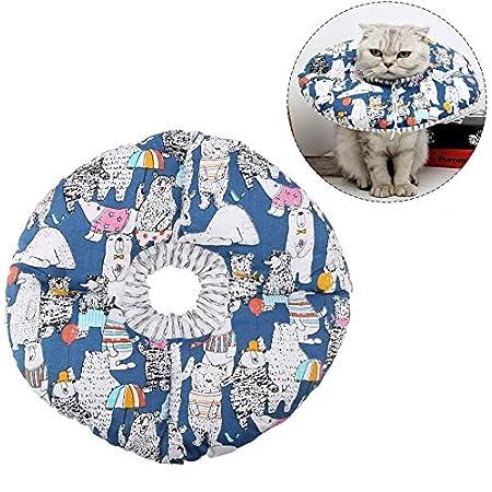 Katze Schutzkragen Soft Edge Circle Pet Schutzkragen Anti Biss Safty Kragen für Katzenwelpen Pet Anti Bite Leck Chirurgie Wundheilung
