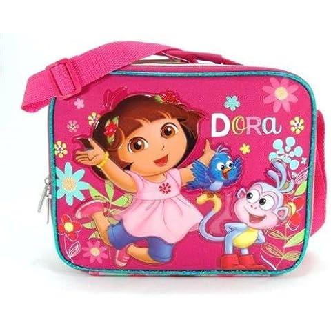 Borsa per il pranzo–Dora the Explorer W/stivali fiori ufficiale 621339 - Dora Lunch Bag