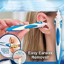 Yanghai Dissolvant de cérumen, nettoyant électrique pour cire d'oreille - secouez, nettoyez et nettoyez votre cérumen en quelques secondes (creusez oreille)