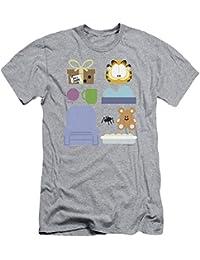 Garfield Classic Comic Cartoon Character Essentials gráfica adulto delgado camiseta