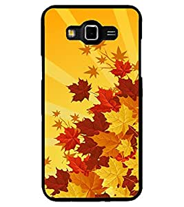ColourCraft Beautiful Leafs Design Back Case Cover for SAMSUNG GALAXY GRAND MAX G720