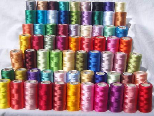 Set 50 x Bobinas hilo Seda bordar máquina coser Muy