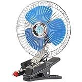 Tinksky–Ventilador de refrigeración, ventilador de coche oscilante con clip, para viaje, 12V
