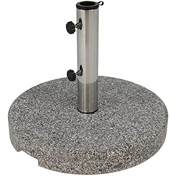 nexos sonnenschirmst nder marmor poliert grau rund 50cm 25kg schirmst nder. Black Bedroom Furniture Sets. Home Design Ideas