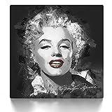 CanvasArts Marilyn Monroe Street Art - Leinwand Bild auf Keilrahmen Wandbild modern abstrakt 12.1841 (50x50 cm)