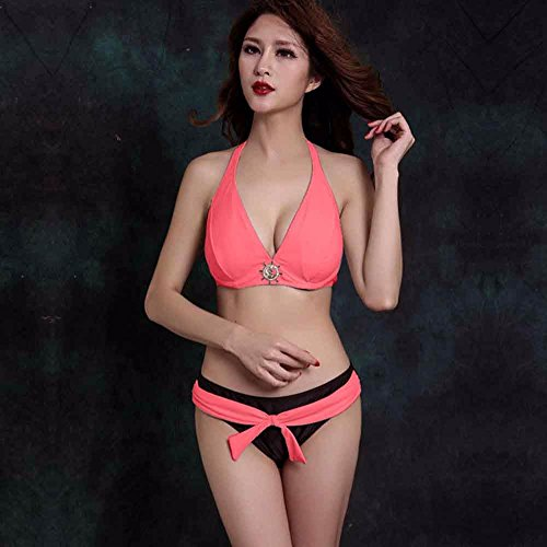 Mme summer maillot en Europe, de grandes et de l'acier le bikini maillot de recueillir-YU&XIN Red
