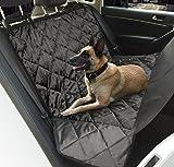 Hundedecke Auto, Topist Wasserdicht Autoschondecke für Hunde Anti-Rutsch Hunde Autodecke, Super Weich für Auto SUV VAN mit Hunde Sicherheitsgurt - 163x140CM