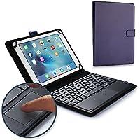 Funda-teclado Samsung Galaxy Note 10.1, COOPER TOUCHPAD EXECUTIVE Funda 2 en 1, cuero teclado, ratón inalámbrico Bluetooth, soporte GT-N8000 N8005 N8010 N8020 (Azul)