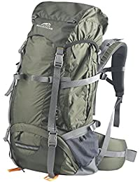 Dutch Mountains Senderismo/trekking Mochilas Maas 65/75L, color verde, tamaño 73x42x37cm