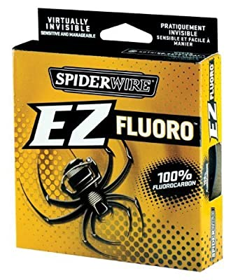 Spiderwire EZ Fluorocarbon Line 200yd Breaking Strains 6lb - 15lb Carp Coarse Game Fishing Line by Spiderwire