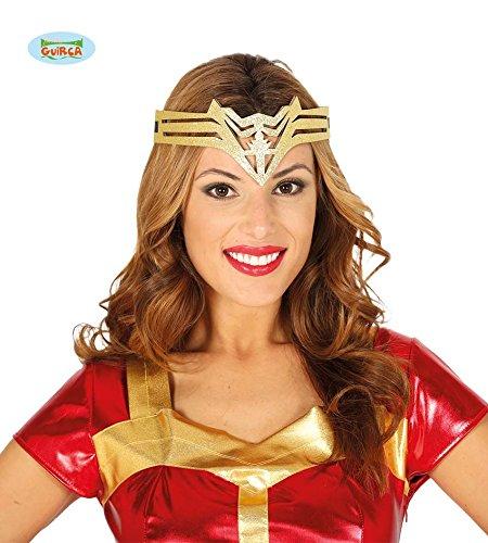 Guirca Diadema Supereroina, Goldfarben, Erwachsene, 13044 (Krone Wonder Woman)