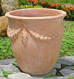 Blumentopf echt Terrakotta 22 cm , Blumenkübel für Garten und Wohnung Terracotta ........... kein Kunststoff, Blumen