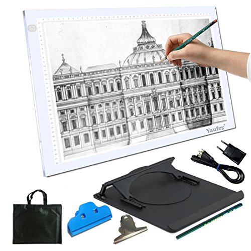 Yaufey® A3 Light Box LED Künstler Schablone Board Tattoo Drawing Tracing Tisch Display Light Box Pad, 6 Stufen der Helligkeit (A3 (Künstler Kostüm Tattoo)