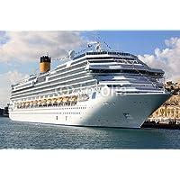 Cruz de viaje de barco de el puerto de Valletta Malta (50365101), lona