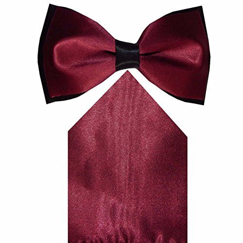 Navaksha Maroon Bow Tie and Pocket Square  available at amazon for Rs.525