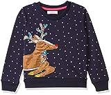 Jumping Meters Boys Cotton Deer Animal Applique Full Sleeves Sweatshirt in Blue Color