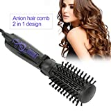 2 in 1 Heißluftpinsel, Anion Automatische Haartrockner Pinsel Elektrische Lockenwickler Pinsel Professionelle Negative Ionic Ceramic Turmalin Hot Lockenbürste Anti-Verbrühung Heizbürste Styling Pinsel(EU)