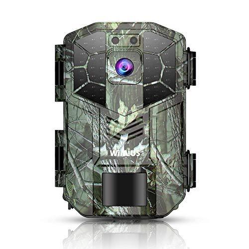 WiMiUS Fotocamera da Caccia, 16MP 1080P Fototrappola,Luce Invidibile a 940nm, 0.6s Trigger Speed Fino a 20m / 70ft, Impermeabile Telecamera【Vari Accessori Aggiuntivi】