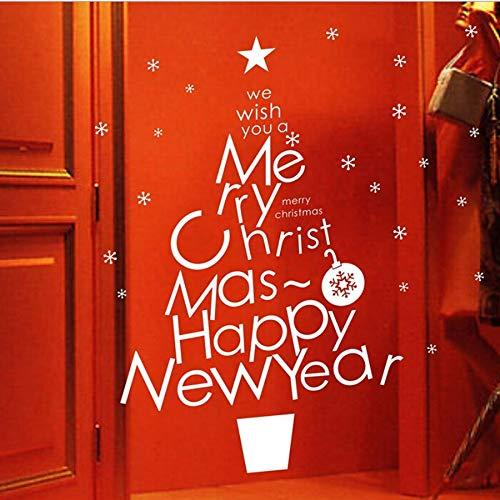 t Happy News Frohe Weihnachten Dekorationen Wandaufkleber Vinyl Dekorative Hauptwanddekor Abziehbilder ()