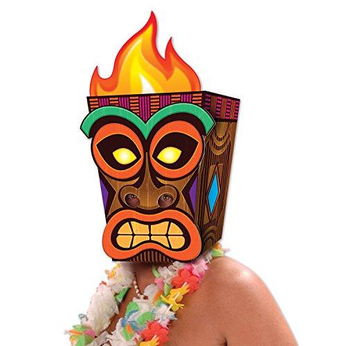 Tiki Maske, 17,8x 22,9x 52,1cm Multicolor (Multi Color Maske)