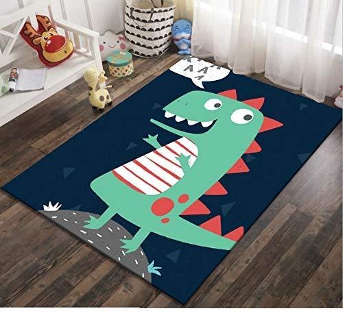 Coperta Antiscivolo Strisciante Da Camera Da Letto Per Bambini In Puzzle Stampato In Dinosauro Di Cartone Animato Per Bambini 120cmx170cm