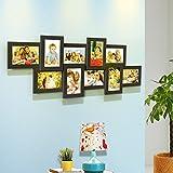 MVPOWER Bilderrahmen 10er Set Fotorahmen Fotogalerie Foto Collage Hausdeko 10x15cm (Schwarz)