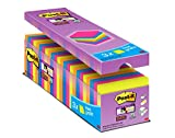 Post it Notes 76 x 76 mm Super Sticky Note Value Pack,  Assorted Colours, (24 pads, 90 Sheets Per Pad)