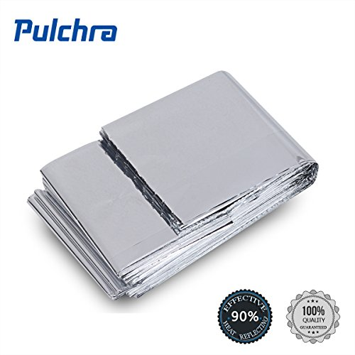 PULCHRA 12× Emergency Blanket Gold & Silver Space Thermal Rescue Blanket 83