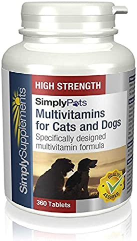 Multivitamins for Cats and Dogs (100% RDA) | 360 Tablets