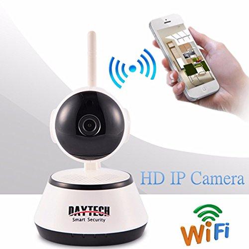 Babyphone, M.Way HD 1280 * 720 Heimschutz überwachungskamera, IP Kamera drahtlose mobile Fernüberwachungskameras Wireless Camera, Pan/Tilt, Schwenkbare IR Monitor , bis zu 64GB mit wifi Antenne