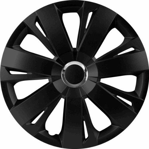 RAU 56028 Radzierblende Radkappe Energy passend für alle gängigen 15 Zoll Stahlfelgen, schwarz - 4-er Set