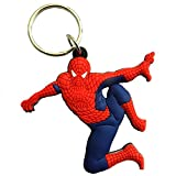 #5: GCT Spiderman / Marvel Avengers / Superhero Synthetic / Rubber Keychain / Keyring / Key Ring / Key Chain (Red/Blue)