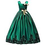 HUANQIUE Mädchen Kleider Prinzessin Hochzeit Abendkleid Lange Röcke